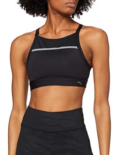 PUMA Speed Bra H T-Shirt, Mujer, Puma Black, M