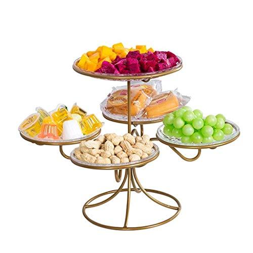 DYB Juego de Cena de Porcelana, Cuenco de Frutas, decoración de la Mesa del hogar de Metal nórdico, Canasta de Frutas de melón para bocadillos