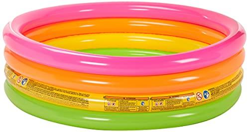 Intex 56441NP - Piscina hinchable 4 aros colores 168 x 46 cm,780 litros