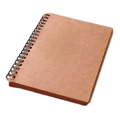 Toruiwa Cuaderno a4 Cuaderno Papel Kraft Bloc de Dibujo Cuaderno de Anillas Album Scrapbooking Pepel Reciclado Libretas Bonitas para Oficina y Papelería 35 Hojas 20*13.8cm