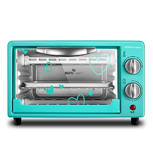 9L Countertop Oven, Steam Oven Toaster |Multi-function Stainless Steel Finish with Timer -Toast -Bake -Broil Settings,Mechanical Toaster Oven (Green)