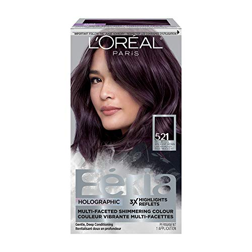 L'Oreal Paris Feria Multi-Faceted Shimmering Permanent Hair Color, Cool Amethyst, Pack of 1, Hair Dye