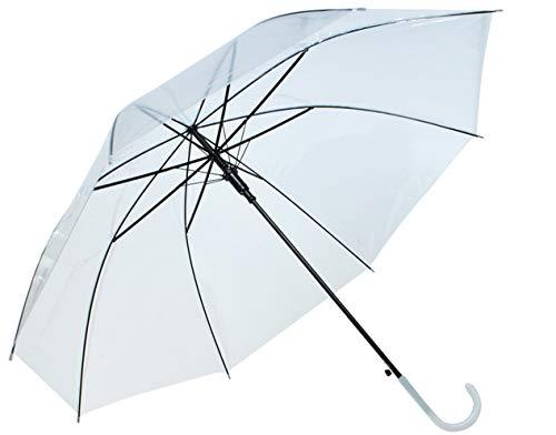 ISO TRADE Regenschirm Transparent Leicht 220g Auto-Entfalten 8 Streben Modern #6600