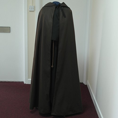 Black Polyester Adult Cloak - Legoslas/Frodo/Lord Of The Rings/LOTR/Pirate/Arwen/Pagan/Halloween