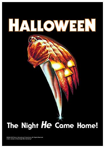 for-collectors-only Halloween Fahne Flagge The Night He Came Home Poster Flagge Textilposter Posterfahne Horror Film Flag