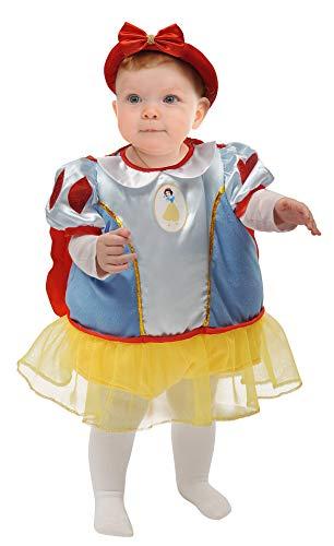 Ciao-Baby 11258.6-12 Schneewittchen Kostüm Disney Princess, 6-12 Monate, Kinder, hellblau, rot, gelb,