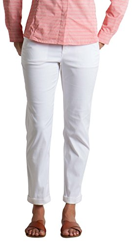 ExOfficio Women's Costera Lightweight Ankle Pants, White, 4