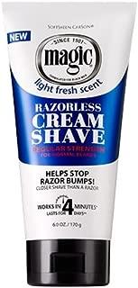 Magic Razorless Cream Shave Regular Strength 6 Ounce (177ml) (3 Pack)