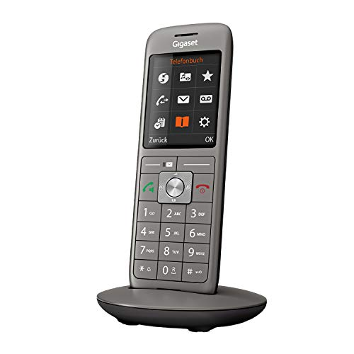 Gigaset CL660 - Schnurloses Telefon ohne Anrufbeantworter mit großem TFT-Farbdisplay - Benutzeroberfläche, großes Adressbuch, schlankes Design Telefon, anthrazit-metallic