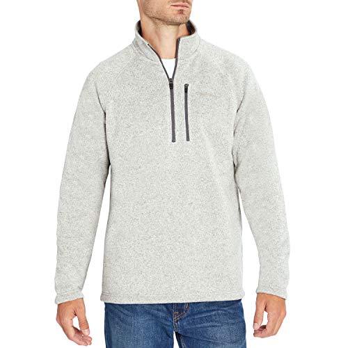Eddie Bauer Men's Quarter-Zip Fleece Sweater - Griffin Grey Large