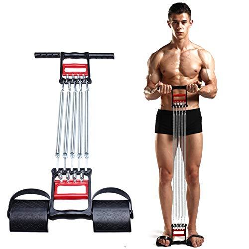 LISYS Spring Chest Expander, 3-in-1-Arm-Trainingsgerät mit 5 Federn und Fußpedalen, das für Trainingsgeräte für den Muskelwiderstand des Brustarms verwendet Wird