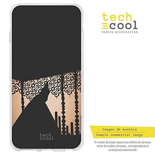 Funnytech® Funda Silicona para Samsung Galaxy A8 2018 [Gel Silicona Flexible, Diseño Exclusivo] Procesión Virgen palio