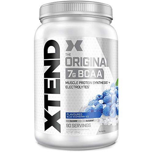 XTEND Original BCAA Powder Blue Raspberry Ice | Branched Chain Amino Acids...