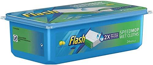 Recambio para mopa, paños húmedos, higiene rápida al limón, sencillo de usar, paquete de 24 unidades