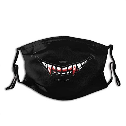 Vampire Fangs Personalisierter Mundschutz mit Filter Unisex Anti-Dust Washable Wiederverwendbarer Mundschutz (geben Sie fünf Mundschutz)