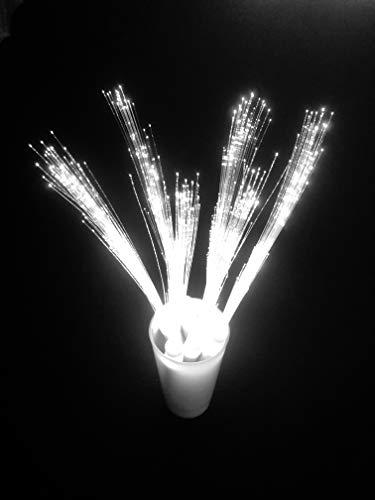 10 LED blanco – Barra luminosa con luz blanca de posición e intermitente para bodas, fiestas y todos los eventos