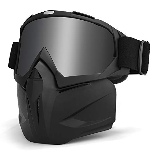 LAMEDA Motorrad Maske Brille Herren Motorrad Goggle Gesichtsmaske Schutzmaske männer Schutzbrille Skibrille Für Motorrad Ski Snowboard Brille Motorradbrillen UV-Schutz