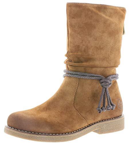 Rieker Damen Stiefel 97883, Frauen Winterstiefel, elegant Women's Women Woman Freizeit leger Winter-Boots halbschaftstiefel,REH,39 EU / 6 UK