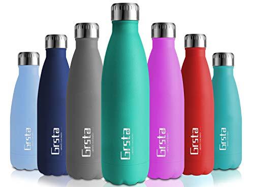 Grsta Thermosflasche BPA Frei Vakuum Isoliert Edelstahl Trinkflasche 750ml/Voll Türkis Thermoskanne Doppelwandige Isolierflasche Auslaufsicher Kinder Wasserflaschen für Schule, Küche, Zuhause