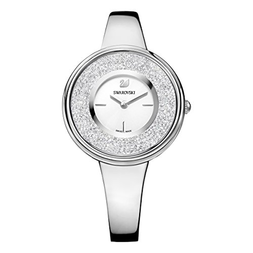 Swarovski reloj Crystalline Pure, brazalete de metal, cristal blanco, acero inoxidable, para mujer