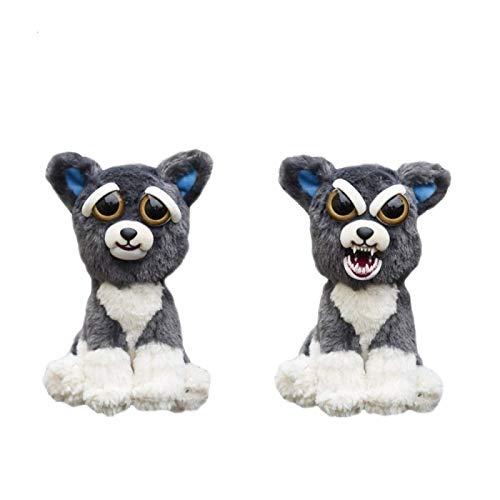 LAIM 22cm feisty pets stuffed plush toys animal doll angry gift dog gray laimi