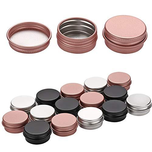 Mini-Flaschen 10 stücke 5g 10g Bunte Leere Aluminiumtopf-Gläser kosmetische Behälter mit Deckel Augencreme Haarpfleger Zinn Kosmetisches Metall Geteilte Flasche (Specifications : 10g Rose Gold)