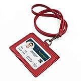 Porta badge con pelle, ID carte porta badge orientamento orizzontale, carta D'identità ti...