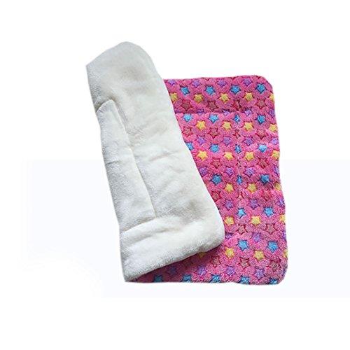 LissomPlume hondenmat/kussen van zacht velours, voor slapen, puppy's en katten, diermotief, 55 * 70, Pink Stern