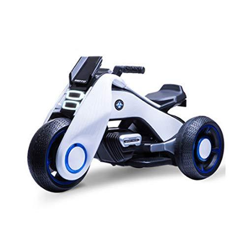 LWXXXA Triciclo elctrico para Motocicleta, con msica + iluminacin, Juguete para Montar a batera 6v4ah, conectar con telfono mvil