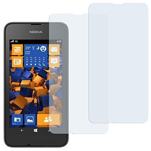 mumbi Schutzfolie kompatibel mit Nokia Lumia 530 Folie klar, Bildschirmschutzfolie (2x)