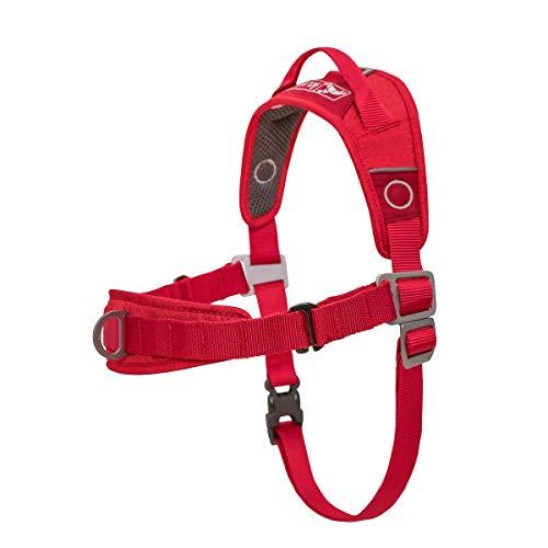 Kurgo Hundegeschirr, kein Ziehen, für Hunde oder Haustiere, verstellbar, reflektierend, einfache Kontrolle, Rot (XS)