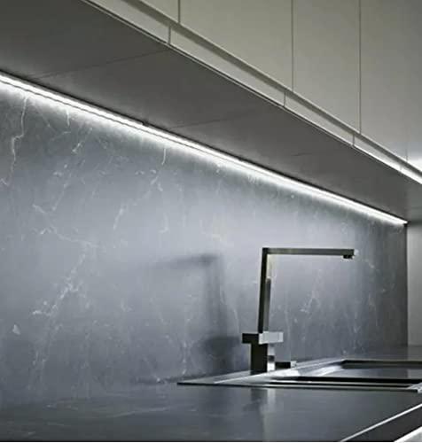TECNO &LED®- BARRA LED SOTTOPENSILE DIMMERABILE SU MISURA CON CHIP LED SAMSUNG BIANCO (4000K NATURALE, 60 CM)
