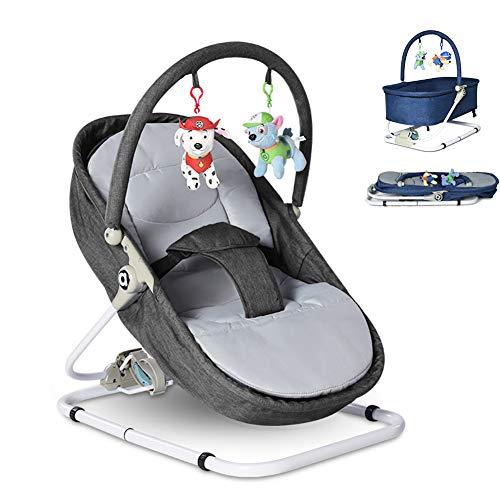 CANDYANA Silla de Columpio para bebés y balancines Sillas y balancín para recién Nacidos con Vibraciones relajantes Desde el Nacimiento 0 a 24 Meses
