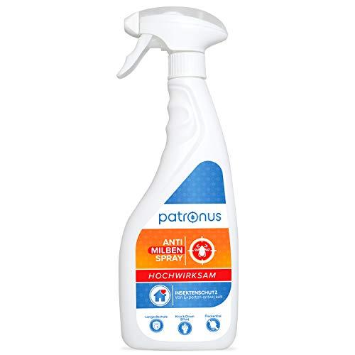 Milbenspray für Matratzen und Polster 500ml - Anti Milben-Spray als Mittel gegen Hausstaubmilben - geruchsneutral, hochwirksam und laborgeprüft