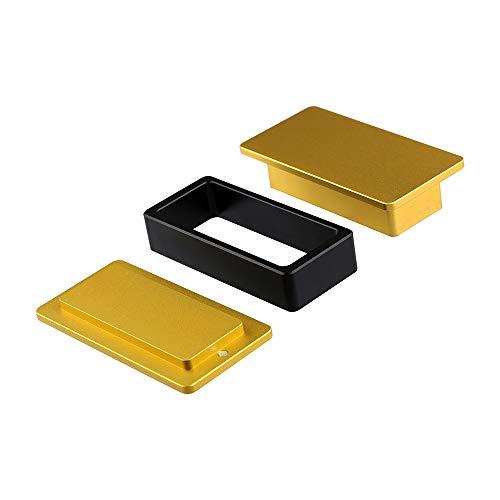 Tech-L 5x10cm Rechteckige Vorpressform Magnetverschluss Form aus anodisiertem Aluminium im Flugzeug Qualität, zusammen mit 5cm Breiten Netztaschen