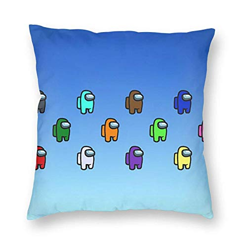 shenguang Among Us Velvet Cushion Cover Throw Pillowcase Decorative Square Pillow Case with Zipper