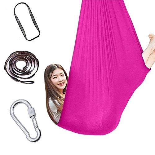 GCZZYMX Swing Sensorial para Niños para Niños Adultos Abrazar Haa Niños con Autismo Silla de Yoga Aeronáutica Ajustable Abrazándose a 440 Libras,Rosa Roja,150 * 280Cm/59 * 110In