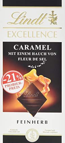Lindt & Sprüngli Excellence Promotion Tafel, Caramel mit einem Hauch von Fleur de Sel, 10er Pack (10 x 100 g)