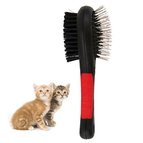 Wicemoon 1x Bürste Haarkamm Hundebürste Nadelkamm Kamm auf beiden Seiten doppelseitiger Kamm für Hunde/Katzen Katzenkamm