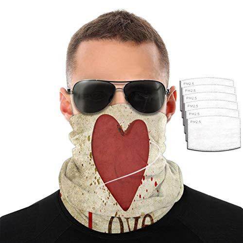 My Love - Toalla para la cara para hombre y mujer, resistente al viento, transpirable, variada