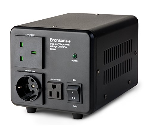 Bronson++ TI 800 110 Volt USA Spannungswandler Ringkern-Transformator 800 Watt - In: 110V oder 220V / Out: 110V und 220V - Bronson 800W