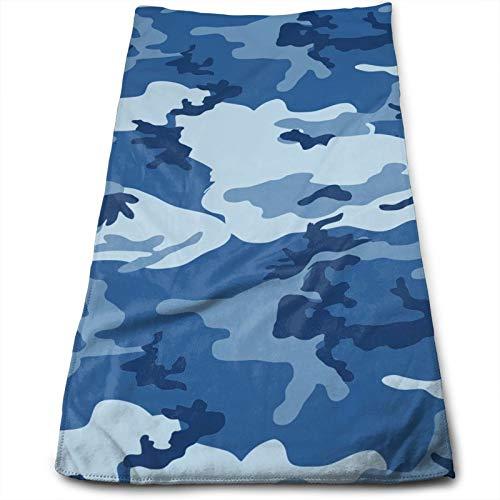 Toallas con estampado de camuflaje azul marino, 28 x 60 cm, toalla para muebles, baño, playa, yoga, camping, natación, deportes, hotel y spa, etc. Necesidades diarias