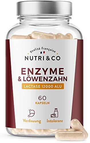 Verdauungsenzyme Pflanzlich | Digestive Enzyme-Komplex | Lactase 12000 ALU | Verdauungsbeschwerden, Blähungen und Milchunverträglichkeit | 60 Kapseln 100% Vegan | Hochdosiert | Vegan | Nutri&Co