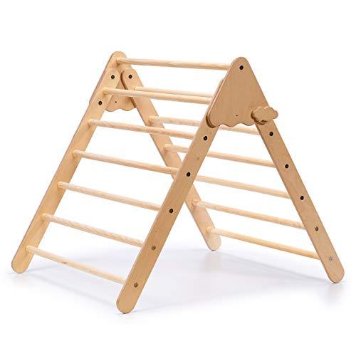 Simre Kids Kletterdreieck (Natur) | Indoor Klettergerüst aus Holz | Piklerdreieck | Motorikspielzeug für Kinder ab 10 Monate