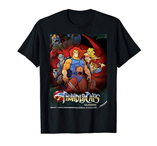 Official ThunderCats Classic Group Shot Poster T-Shirt in 4 Colors for Men and Women, S to 3Xl