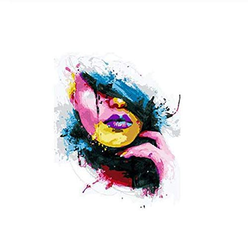 diy40*50cmDas Gesicht Malerei DIY Malerei Kit Malen nach Zahlen Kit DIY Ölgemälde auf Leinwand Geschenke Wandkunst Frameless