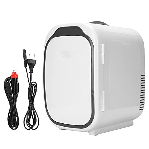 BIKING Mini refrigerador Compacto, Mini refrigerador pequeño portátil de 6 litros Refrigerador más frío para Dormitorio 220 V-240 V(European Standard-Negro)