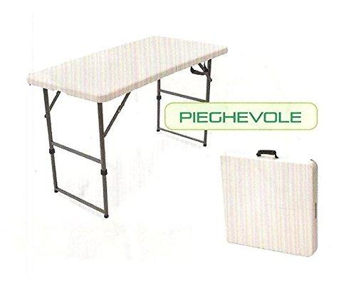CON.VER opvouwbare campingtafel PREMIUM120 met PE legplank klaptafel met polyethyleen tafelblad en gemakkelijk mee te nemen strandtafel vrije tijd afmetingen 122 x 60 x 73 cm