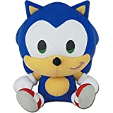 Great Eastern Entertainment Sonic The Hedgehog SD Sonic Sitting Plush Toy, 7' H, Multicolor