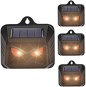 4-Pack Thanos Solar Nocturnal Animal Repeller with Red LED Lights